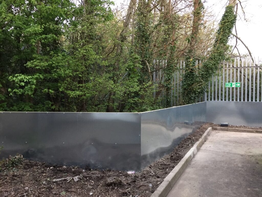 Metal sheets to prevent rats